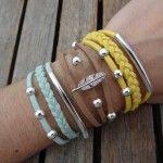 Bracelets pendentifs et suédine, Chouette Kit n°10