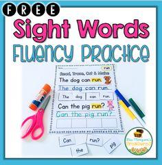 Free Sight Words Fluency Practice