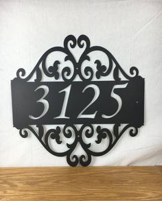 Metal house address sign 4 Garden address sign by WhitingIron