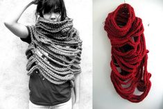 Large Cloud Cowl by Rose Tung. Love this, but if I wore it, it would simply indicate me outwardly as the confused knitter that I've always been.