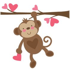 Valentine Monkey SVG file for scrapbooking cardmaking valentines svg files free svgs cute svg cuts
