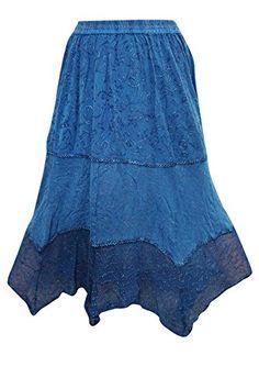 Womens Long Skirt DISTRESSED Blue Embroidered Uneven Hem ... https://www.amazon.com/dp/B01N35PNTX/ref=cm_sw_r_pi_dp_x_8OkKybYHDRNXF