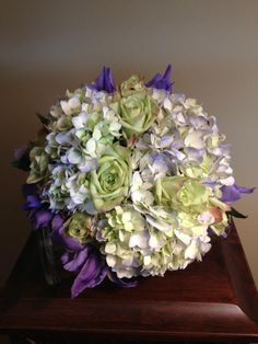 Hydrangea Bouquet-Wedding Collection by Wildrose Floral Design. Check it out on Facebook or at wildrosefloraldesign.net