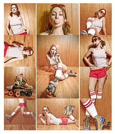Corinne: Roller Girl by DarrylDarko, via Flickr Maybe we could do collages like this for the group shot?