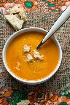 Winter squash and red bell pepper soup
