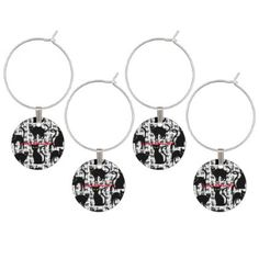 #Halloween Wine Glass Charm - #halloween #party #stuff #allhalloween All Hallows' Eve All Saints' Eve #Kids & #Adaults