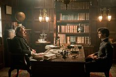 Edwardian office - Mr Bentley and Arthur Kipps from The Woman in Black (copyright Hammer Films)