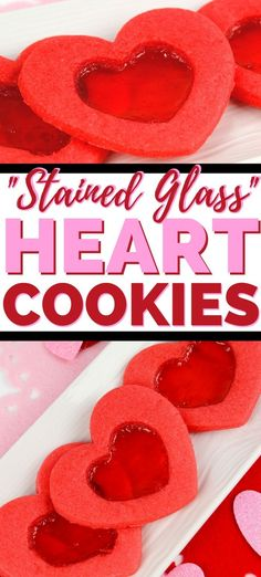 A beautiful stained glass cookie recipe for Valentine's Day. These tasty heart c. A beautiful stained glass cookie recipe for Valentine's Day. These tasty heart cookies feature a Chocolate Marshmallow Cookies, Chocolate Chip Shortbread Cookies, Toffee Cookies, Spice Cookies, Heart Cookies, Yummy Cookies, Ginger Cookies, Sugar Cookies, Valentine Desserts