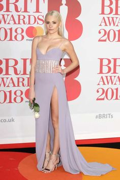 Pixe Lott in Stella McCartney Strapless Dress Formal, Formal Dresses, Long Dresses, Red Carpet Looks, Purple Dress, Fashion Beauty, Celebrity Style, Awards, Beautiful Women