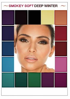 Deep Winter Palette, Cool Winter Color Palette, Deep Winter Colors, Dark Winter, Cool Skin Tone, Colors For Skin Tone, Mode Cool, Mix Match Outfits, Seasonal Color Analysis
