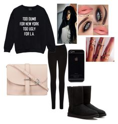 """I'm crazy"" by dyasiarocks2000 ❤ liked on Polyvore featuring Oasis, M.N.G and UGG Australia"