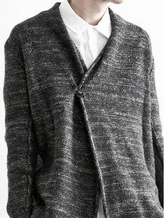 MEN CATEGORY :: CLOTH :: TOPS :: CARDIGAN :: DANIEL ANDRESEN KARINIA ベーシックニットカーディガン DARK GRAPHITE