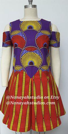 African Print Swing and Shift Mini Dress. African Party Dresses, African Print Dresses, African Print Fashion, Africa Fashion, African Dress, Fashion Prints, African Attire, African Wear, African Women