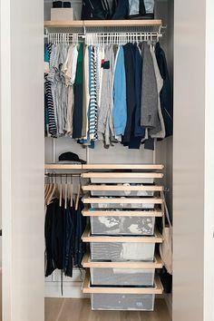 Room Ideas Bedroom, Closet Bedroom, Bedroom Decor, Tiny Closet, Elfa Closet, Closets, Dorm Room Designs, Closet Designs, Container Store