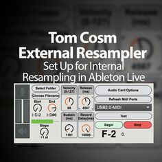 """This is how to go about setting up Tom Cosm's External Resampler device to work internally in Ableton Live on a PC. If you don't know what the External Resampler is: """"External Resampler allows you to resample your hardware or software synthesizers automatically. You specify what range, and what increment of notes you wish to …"""