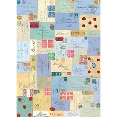 Paris Letter Themed Wrapping Paper