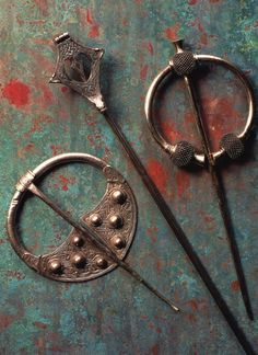 Medievial Celtic brooches.