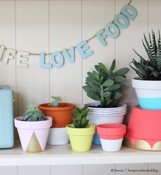 Easy DIY Projects Painted Pots Pick Your Color Paint And Let Dry - Diy two tone painted pots