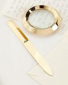 Archer Letter Opener & Magnifying Glass