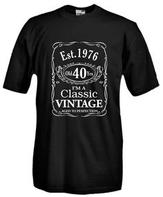 Settantallora - T-shirt Maglietta J854 Nato nel 1976 Compleanno di 40 anni Taglia S
