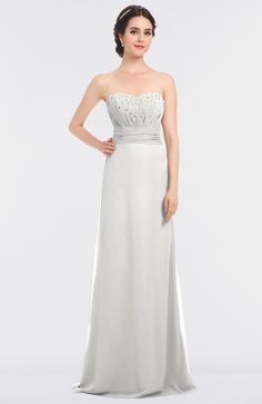 5c0b513255426 Cloud White Mature Sleeveless Bridesmaid Dress A-line Zip up Appliques |  HaveProm