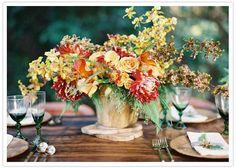 Rustic Fall floral centerpiece