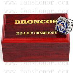 Custom AFC 2013 Denver Broncos American Football Championship Ring - Football