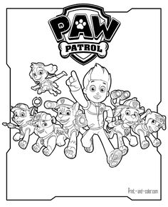 There Are Many High Quality Paw Patrol Coloring Pages For Your Kids