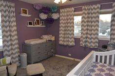 Purple, Gray and Teal Nursery