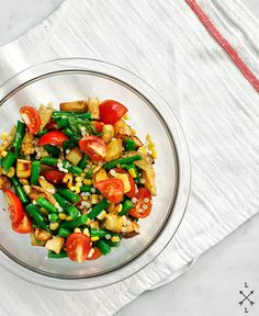 Green Bean, Potato and Corn Salad