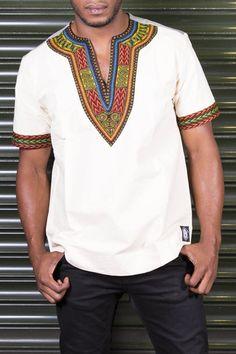 Dashiki - African T-Shirt - Men's