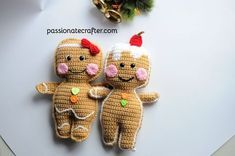 Gingerbread Cookies Doll - free crochet pattern from Passionatecrafter.