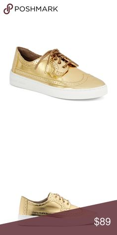 b0f0729a41b Michael Kors Gold Sneakers Gorgeous Michael Kors Piers Sneakers with  wingtips   perforation details