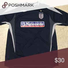 England Nationwide Soccer Jersey England Nationwide Soccer Mens Small Jersey Pro Trainer XL. Like new. Brand is Umbro Umbro Shirts Tees - Short Sleeve