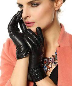 Warmen Women's Touchscreen Texting Driving Winter Warm Nappa Leather Gloves (Fleece or Cashmere Lining) - Black ( Fleece Lining ) 8 (US Standard size) Lambskin Leather, Leather Gloves, Black Leather, Vintage Leather, Soft Leather, Best Winter Gloves, Sheepskin Gloves, Cold Weather Gloves, Driving Gloves