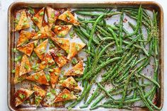 Recipe: Sheet Pan Honey-Sesame Tofu and Green Beans   Kitchn