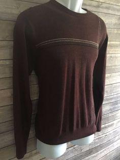 GEOFFREY BEENE Men's Formal Sweater Size Medium Classic Crewneck Red Fitted  EUC #GeoffreyBeene #Crewneck #ebay