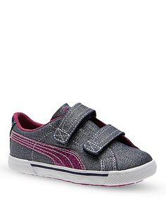 PUMA Toddler Girls' Benecio Denim V Sneakers - Sizes 5-7 Child; 8