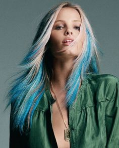 blue and blonde hair - Google Search
