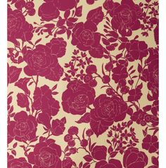 Karla Pruitt for Hygge & West Garden in Cream and Magenta Wallpaper