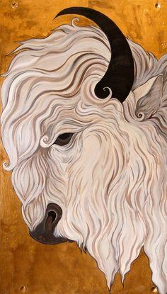 White Buffalo -- acrylic on board.