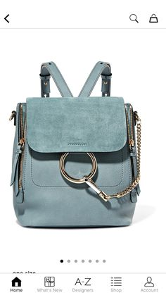 63d71ae62854 Chloé Faye Small Leather And Suede Backpack - Blue. nevin jimmy · Bags
