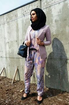 These Hijab Clad Women Will Teach You A Thing Or Two About Fashion - Chic jumpsuit - Office essentials