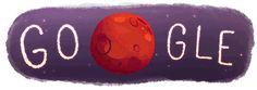 "he ""Water Found on Mars"" Google logo is pretty cute"