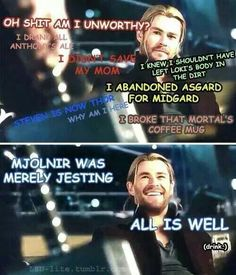sorry Thor but Steve was faking it. He IS worthy and will take Asgard's throne. OMG imagine Steve as King of Asgard, how pissed off Loki would be lmao