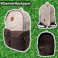 Evrawood Denver Backpack Stone Dark Brown