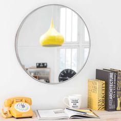 Runder Spiegel aus Metall, D 60cm, PARKER