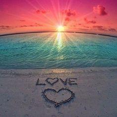Sunset heart