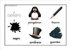 Colores - Negro http://www.educapeques.com/recursos-para-el-aula/los-colores-fichas-para-aprender-y-repasar.html