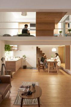 ห้องนอนอยู่บริเวณชั้นบน Best House Plans, Loft Design, House Design,